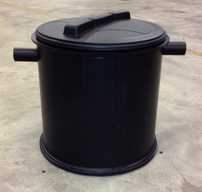 Kunststof slib-vetafscheider 0,3 liter/seconde