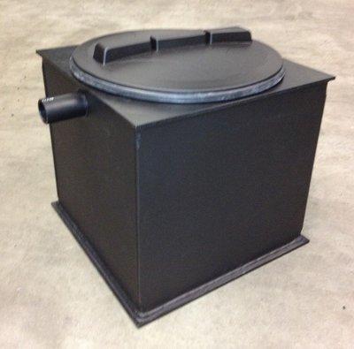 Kunststof slib-vetafscheider 0,4 liter/seconde