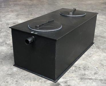 Kunststof slib-vetafscheider 2 liter/seconde